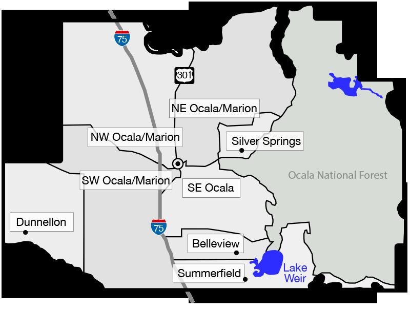 Ocala FL Homes For Sale - Ocala florida map